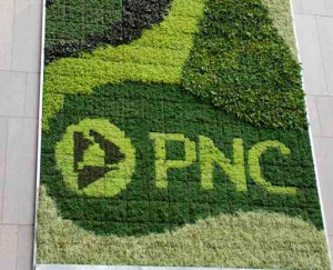 PNC's green wall