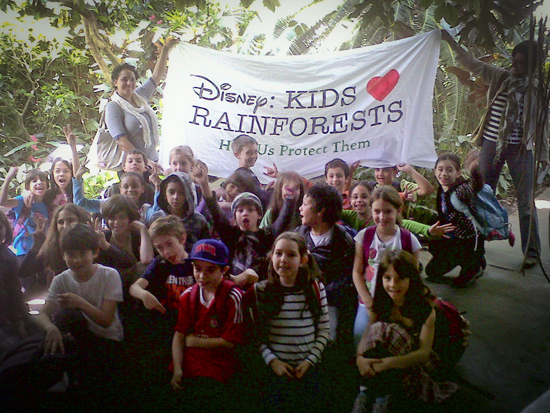 Disney kids love rainforests