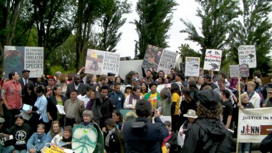 Chevron AGM protest