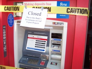 Bank of America ATMs Closed Due to Coal Export Investments