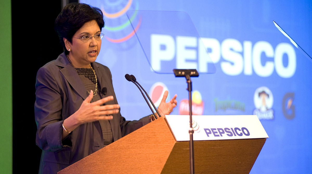 indra nooyi ceo of pepsico essay Pepsi ceo slams trump: stock nosedives by robert gehl november 15 ceo indra nooyi was speaking at a new york times dealbook conference pepsi stock after ceo tells trump supporters to take your business elsewhere is plummeting.