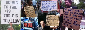 Occupy Wall St signs