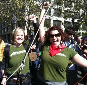 Ran Staffers at Occupy March