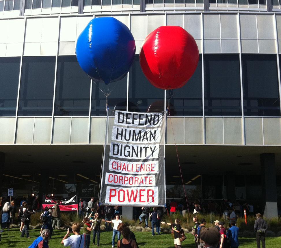 RAN Banner at Occupy Oakland, Nov. 2, 2011