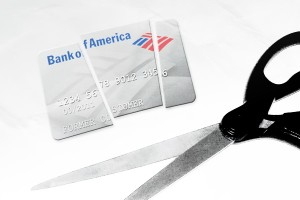 Bank of America Cut Card