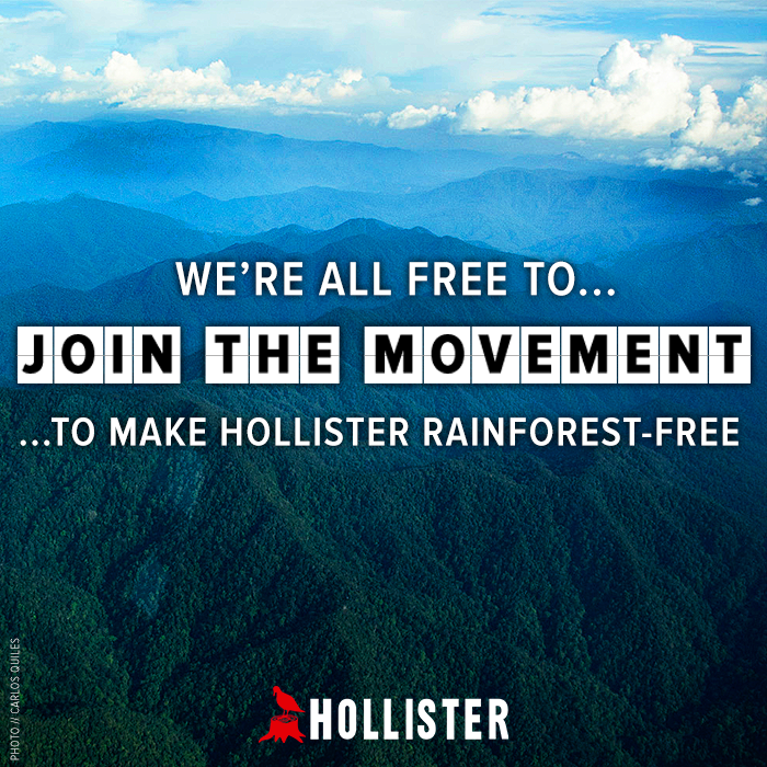 Join a real movement for rainforest-free fashion