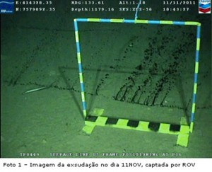 Brazil leak underwater