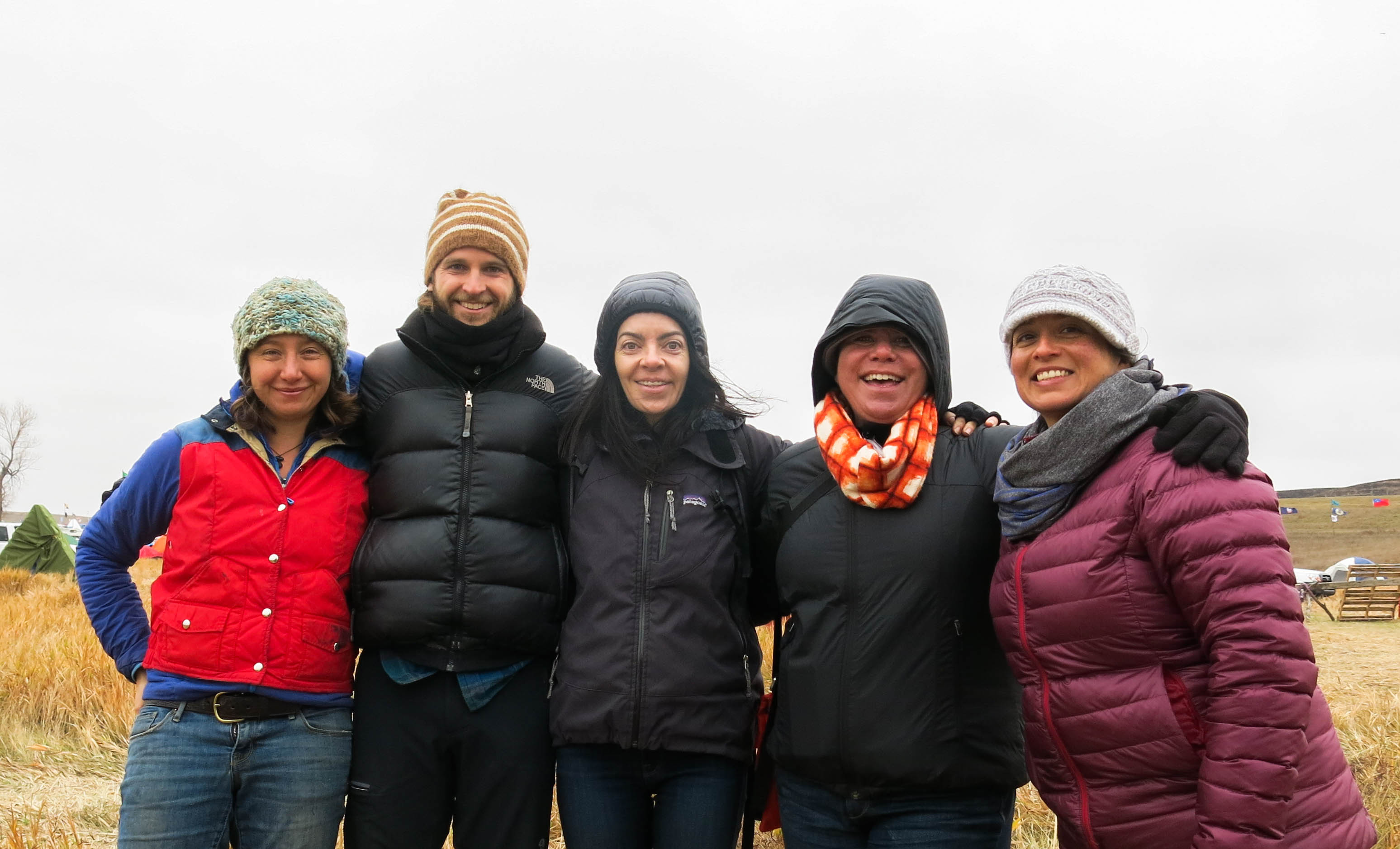 Bria's group visiting Standing Rock