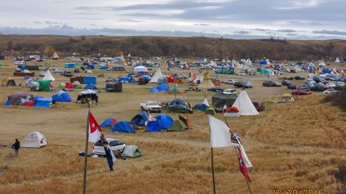 Scene of Standing Rock camp
