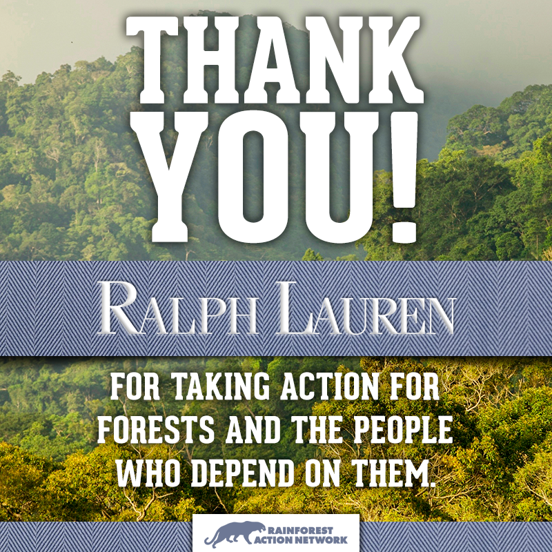 Big news! Ralph Lauren commits to rainforest-free fabric