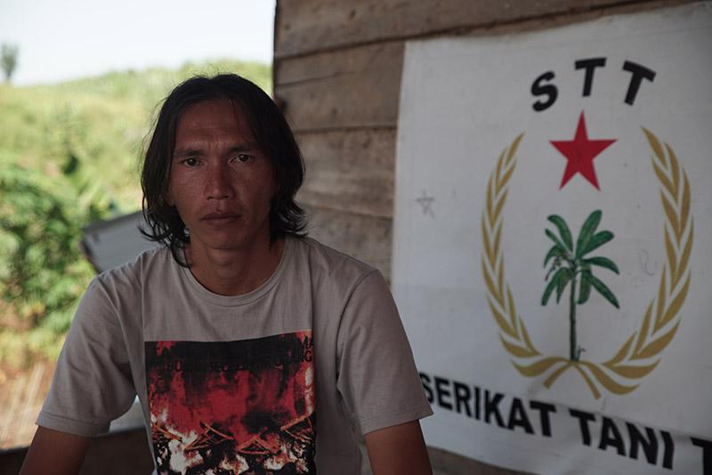 "Frandody Taruna Negara, aka ""Dody"", Head of Tebo Farmers' Union (STT), in Lubuk Mandarsah, Jambi Province, Indonesia"