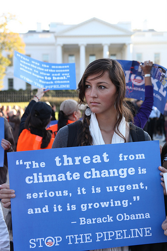 Youth at Nov 6 Tar Sands Action: Photo by Christine Irvine