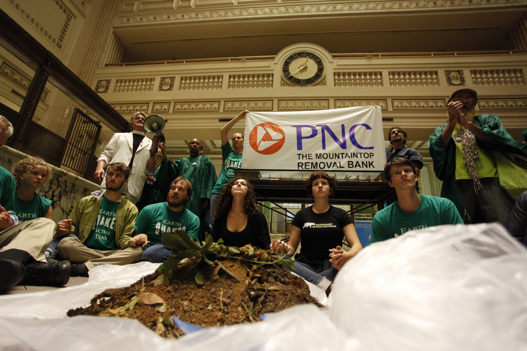 Appalachia Rising: Activists Deliver Coal Waste to PNC Bank
