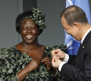 Secretary-General Inducts Wangari Maathai as UN Messenger of Peace