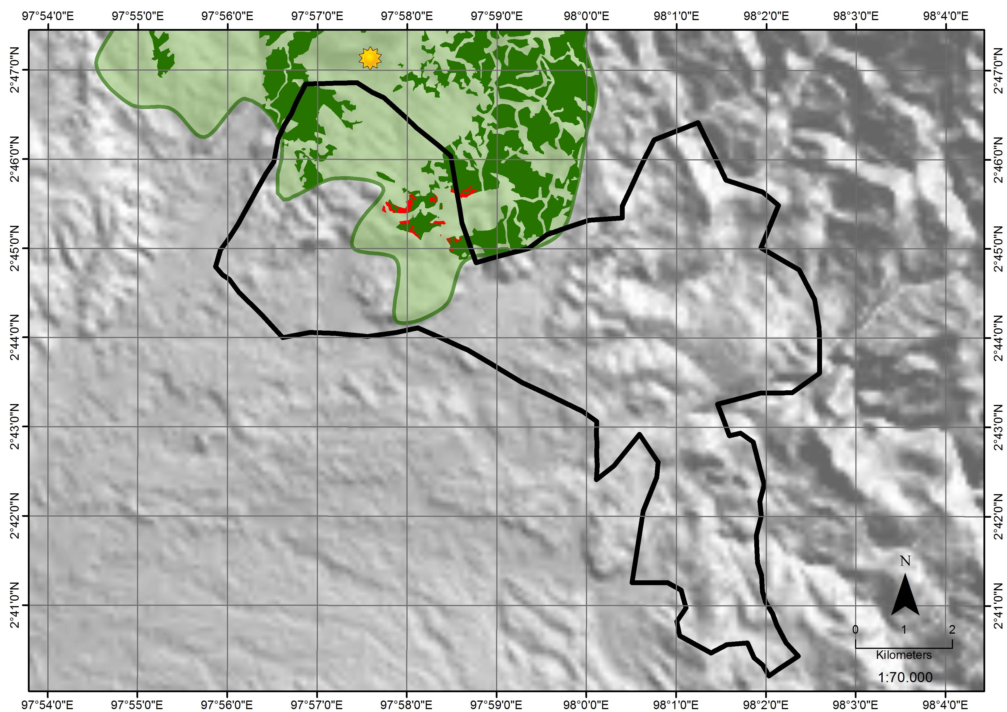 Laot Bangko satellite analysis image