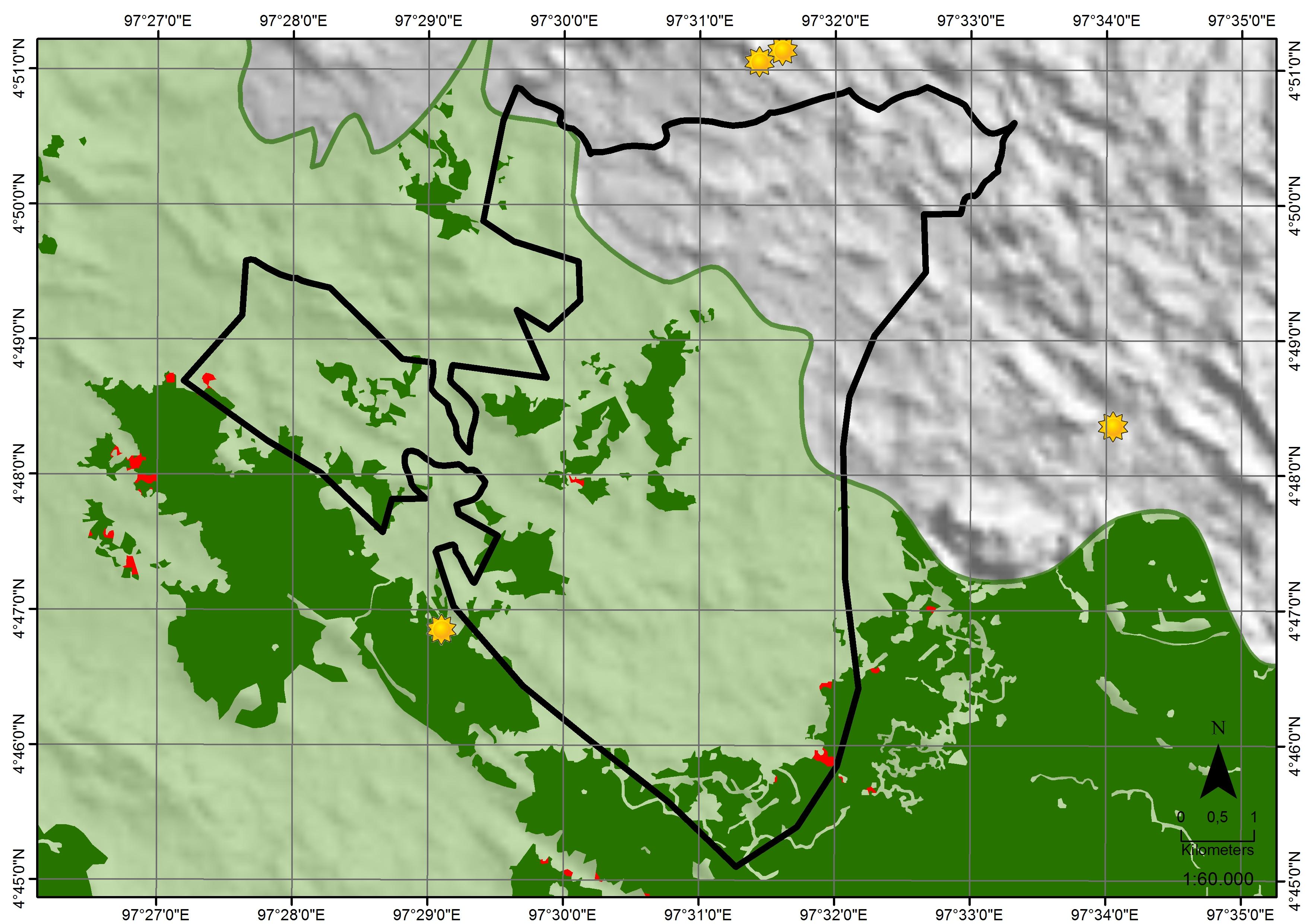 Tualang Raya satellite analysis image