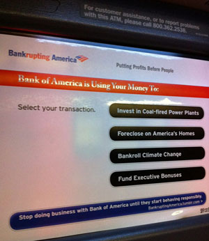 Bank of America ATM gets brandjammed