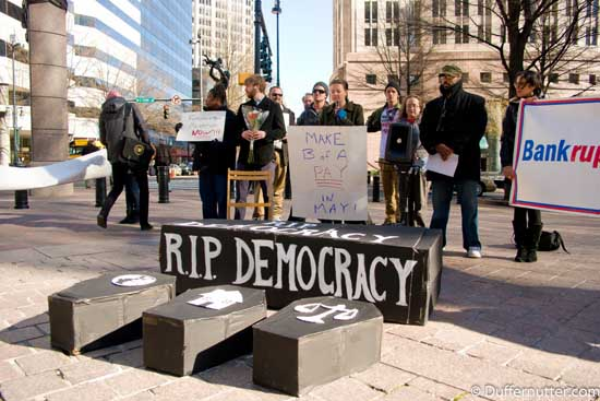 Funeral for Democracy Charlotte, NC