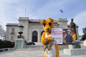 A kangaroo protests Chevron's kangaroo court