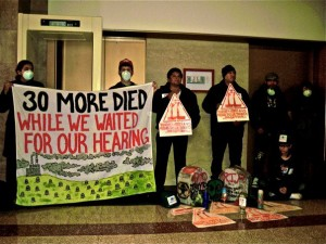 El Vejo Memoria during Clean Power Ordinance meetin in Chicago City Hall