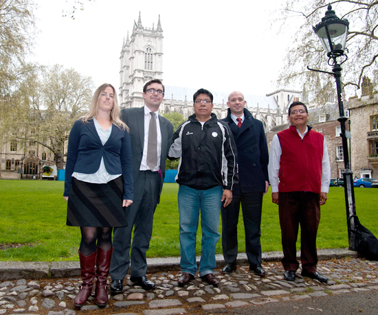 Ecuador delegation at Westminster Abbey