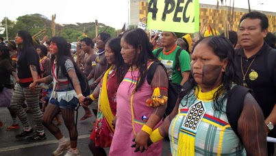 National Indigenous Mobilization in Brasilia, Photo by Maira Irigaray