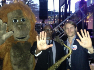 Saxophone in one hand, activism in the other, Karl Denson takes action before taking the stage.