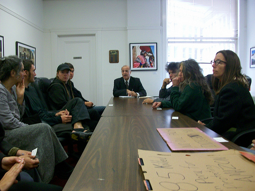 Peru's Consul General sits down for an uncomfortable chat with 15 activists.