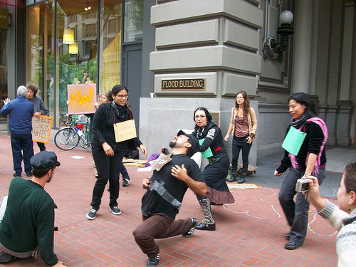 A local street theater collective.