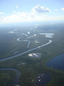 Amazing Xingu from airplane