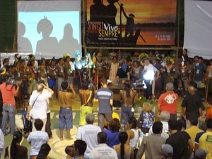 Opening Circle at Xingu Encounter