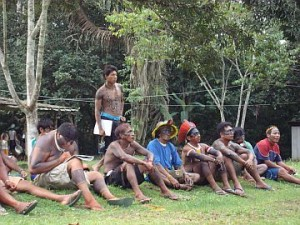 Indigenous leaders from Xingu at Visioning Meeting