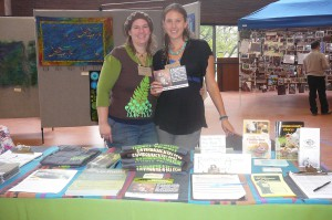 Local Twin Cities Chapter Head Carrie Anne and me at Bioneers Table