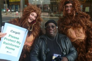 Displaced Orangutans on the Street in Downtown Minneapolis!