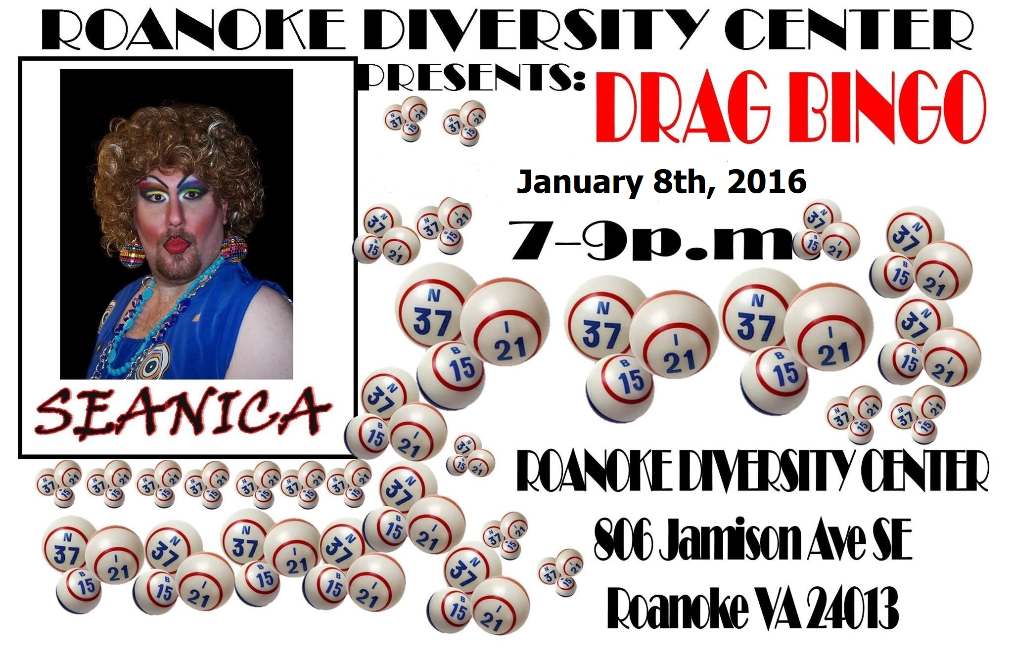 Drag Bingo Jan 2016