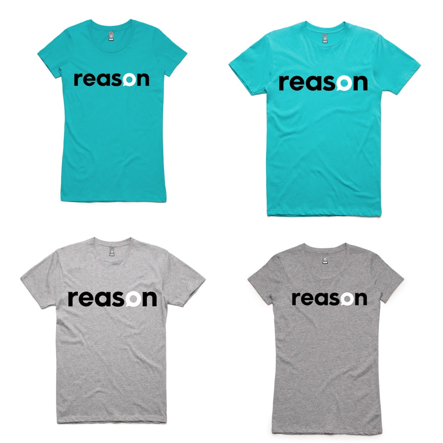 Reason T-Shirts Teal & Grey