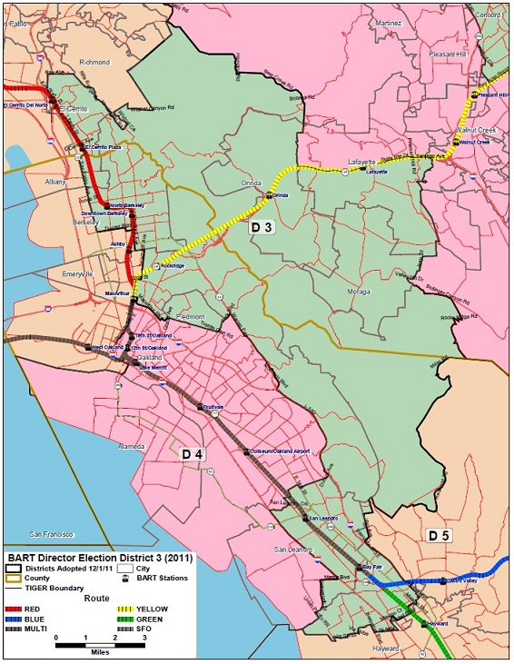 BART District 3 Map