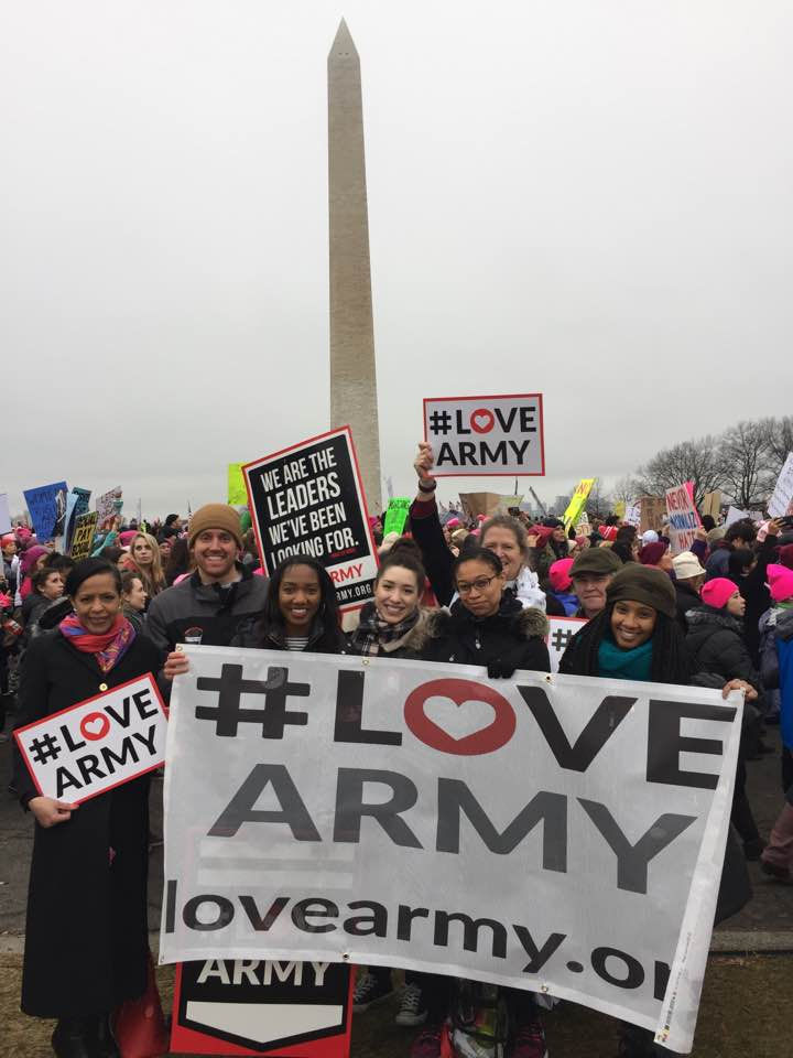 Elianne Ramos joins Dream Corps and Green For All at Women's March