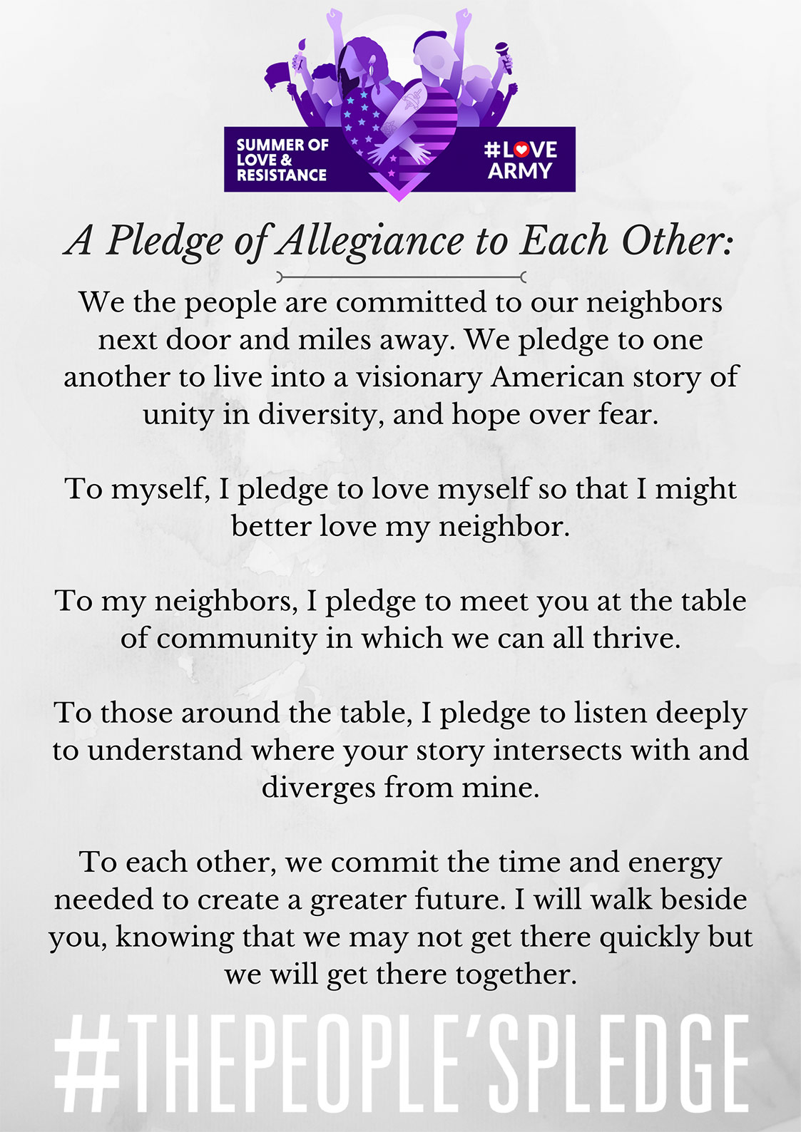The People's Pledge - #LoveArmy