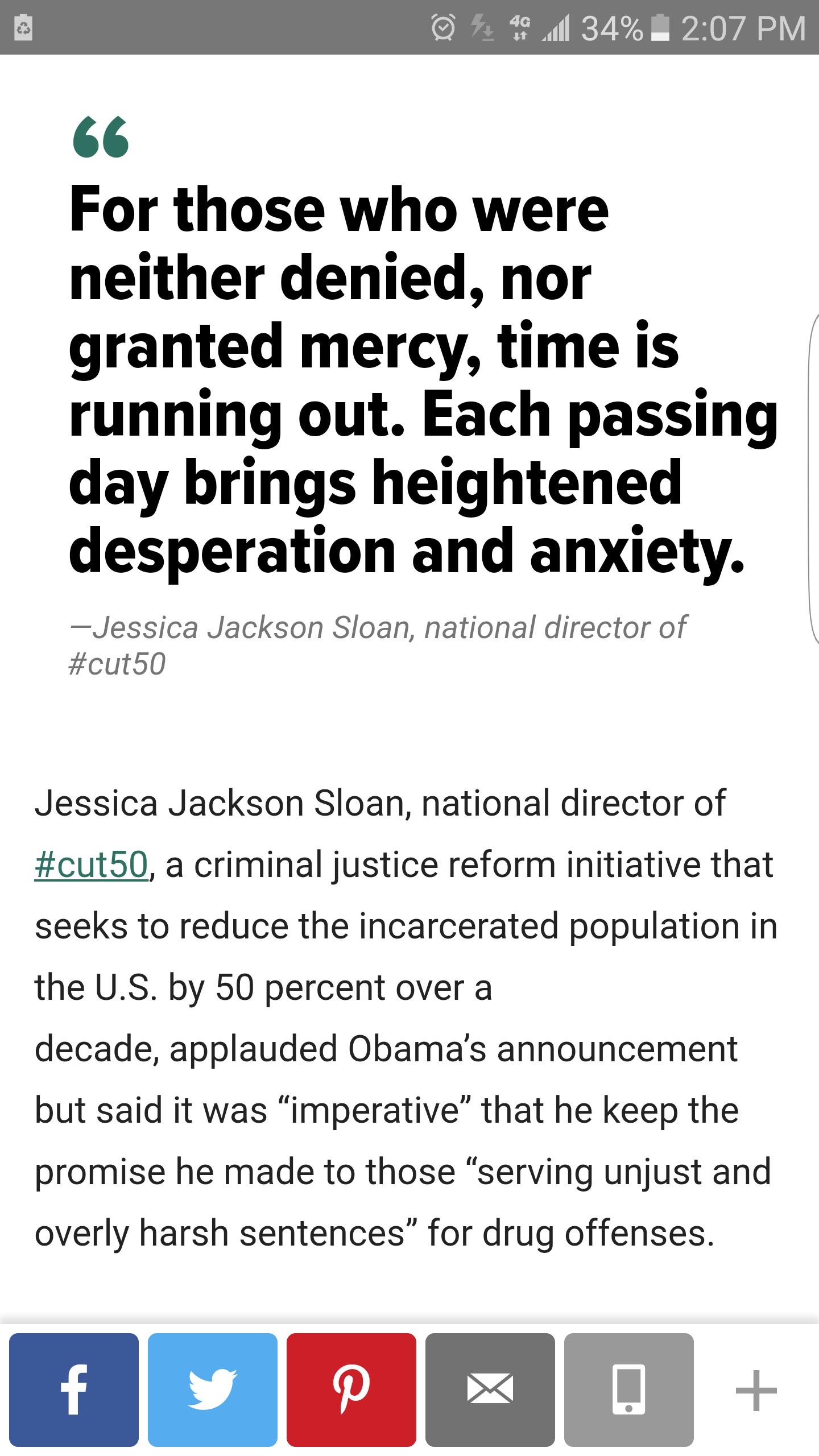 Barack Obama Just Cut The Sentences Of 98 Drug Offenders. Dozens Would Have Died Behind Bars.