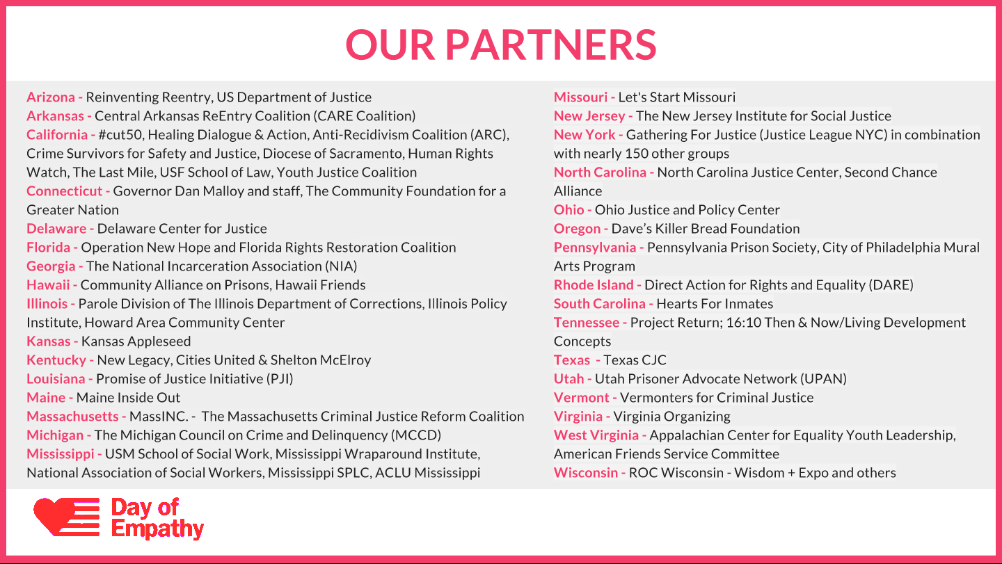 Thank You to Our 2017 Day of Empathy Partners!