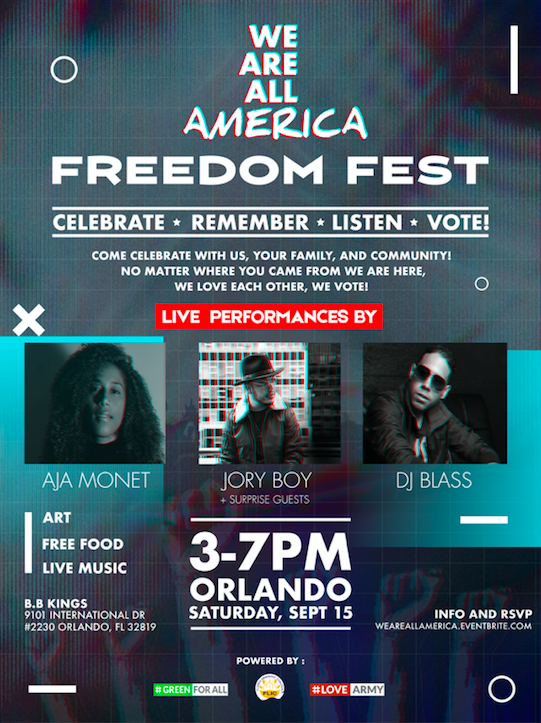 We Are All America Fest poster