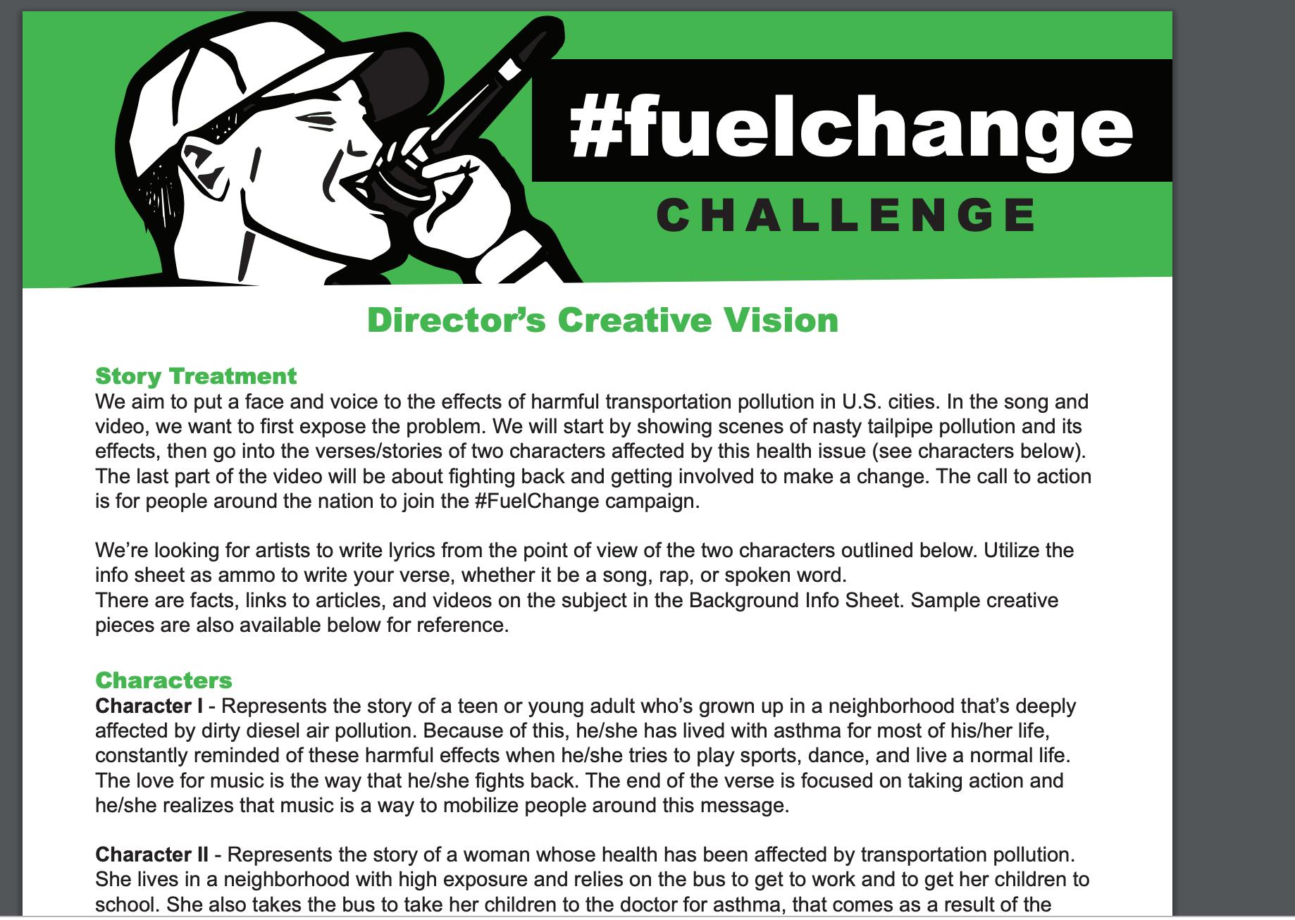 Fuel Change Challenge Director's Creative Vision