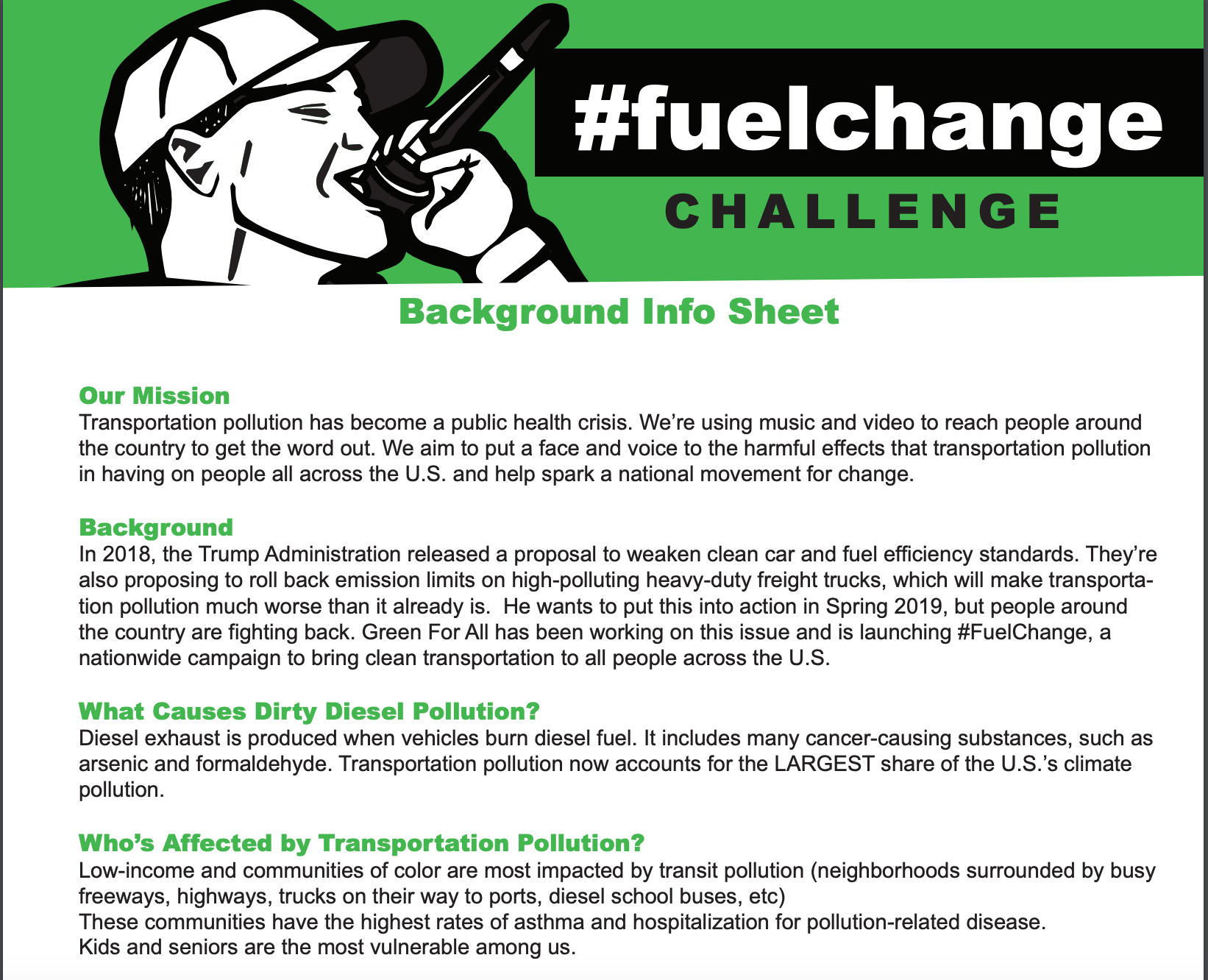 Fuel Change Challenge Background Information