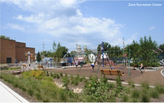 Zone Recreation Center - Green Infrastructure project in Cleveland