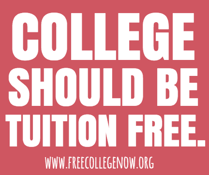 One Pager - The Campaign for Free College Tuition