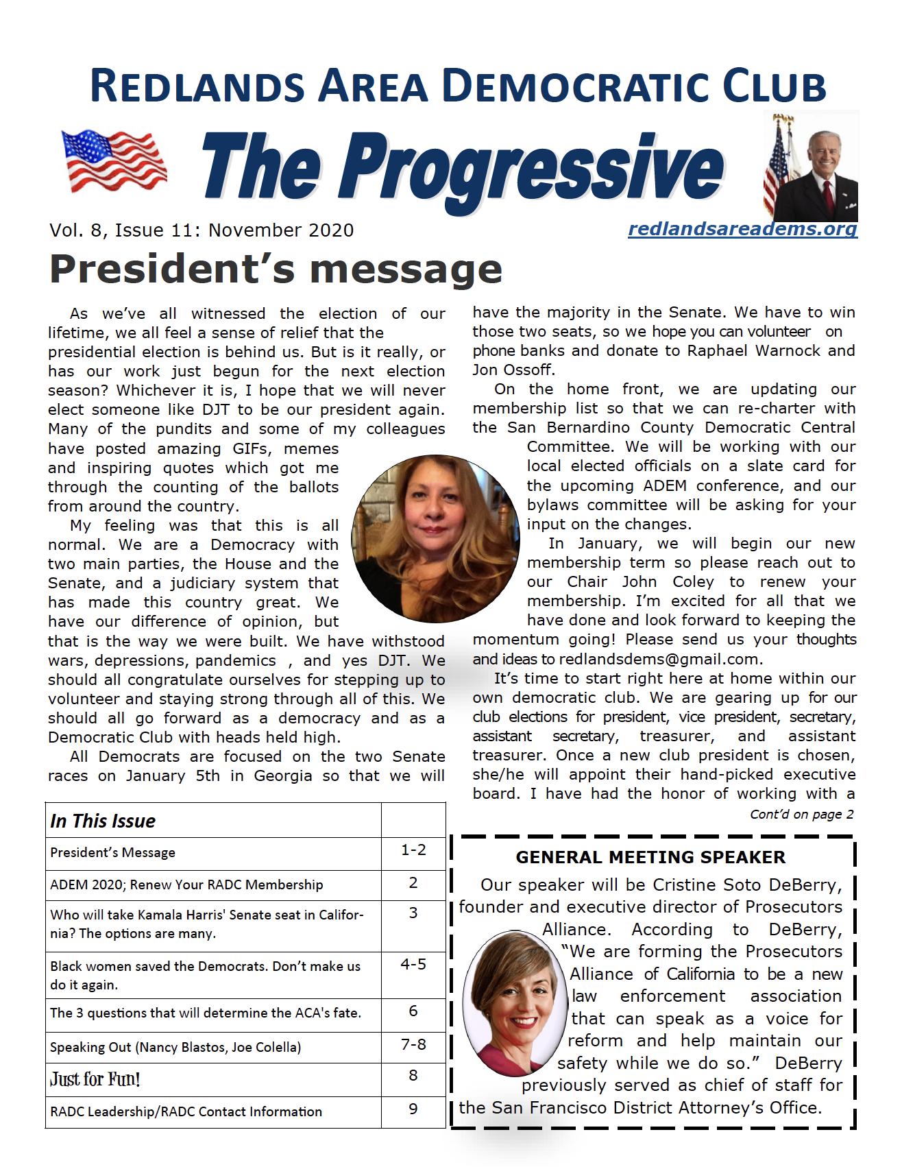 November 2020 Progressive