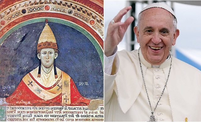 Popes Innocent III and Francis