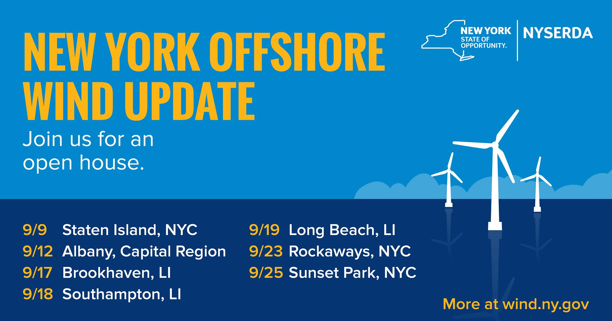 NYSERDA Offshore Wind Open Houses Sep. 2019
