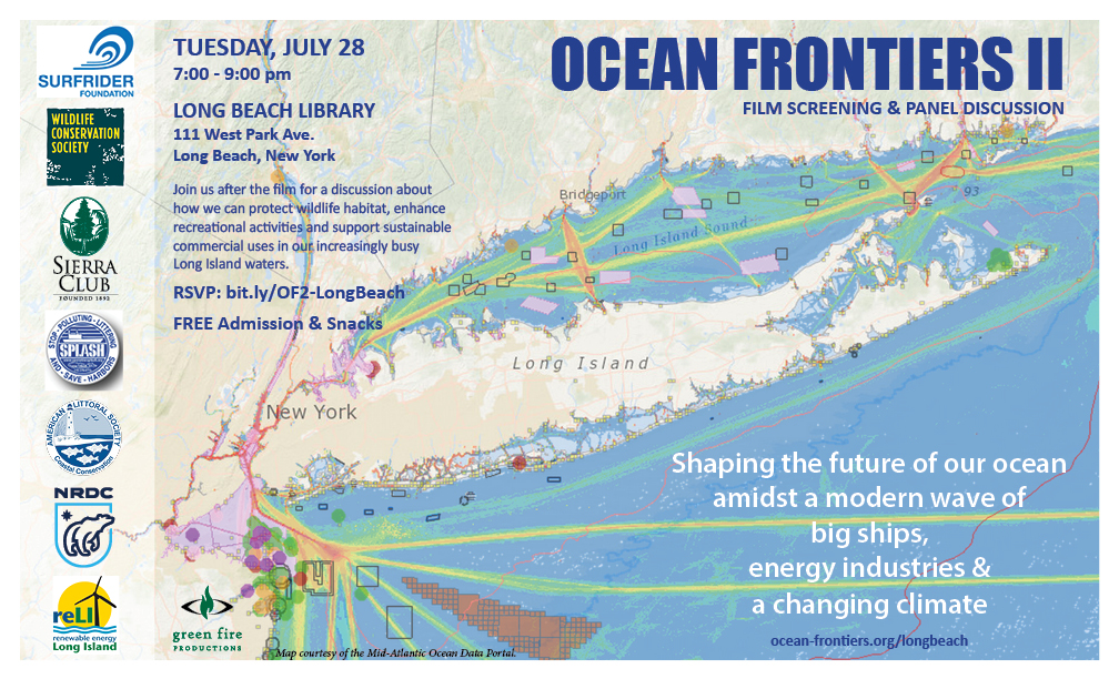 Ocean Frontiers II screening Long Beach, Long Island